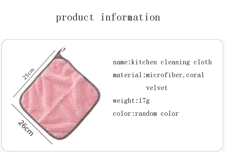 1pcs Kitchen Rag Microfiber Cleaning Cloth Hangable Dish Towel Dish Cloth tableware Household Cleaning Towel (1)