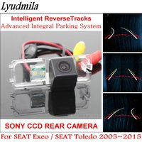 Lyudmila AUTO Dynamic trajectory Moving Guide Lines HD CCD Car Parking Rear view Camera FOR SEAT Exeo / SEAT Toledo 2005~2015