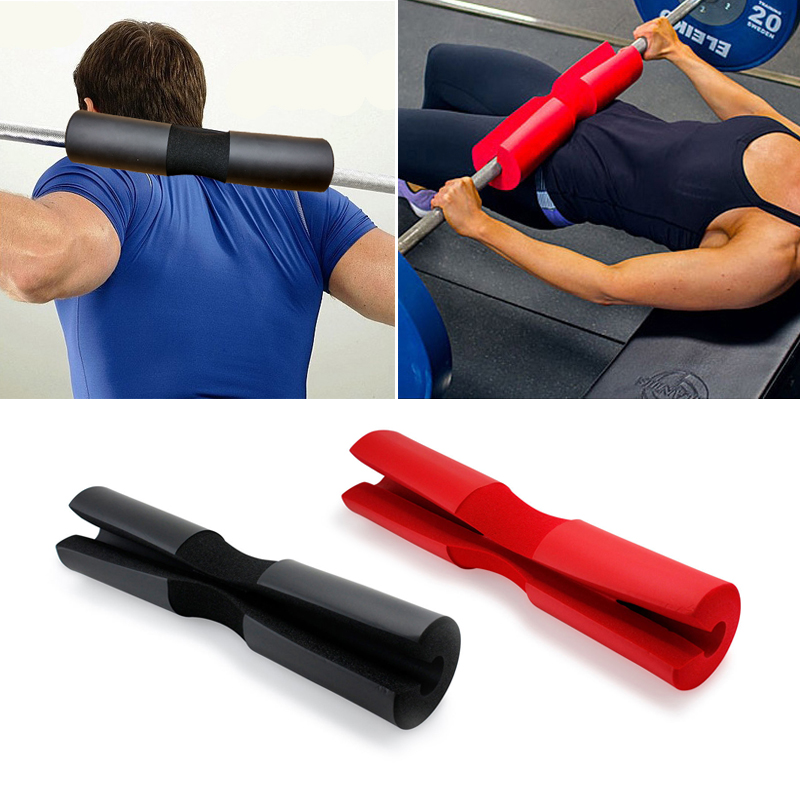 1PC Foam Padded Barbell Cover For Women Men Gym Weight Lifting Squat Shoulder Support Black Red