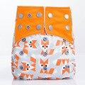 1 PCS New Hot 2016 Fox Projeto Reutilizáveis Fraldas Do Bebê 5-12 kg de Microfibra Inserções Para Recém-nascidos fraldas de Pano Modernas fraldas