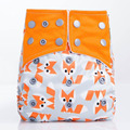 1PCS New 2016 Hot  Reusable Baby Diapers Fox Design 5-12kg Microfiber Inserts For  Newborn Modern Cloth Nappies