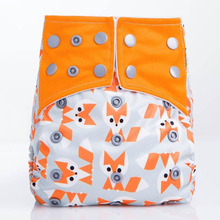 1PCS New 2016 Hot Reusable Baby Diapers Fox Design 5 12kg Microfiber Inserts For Newborn Modern