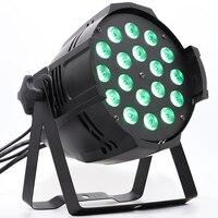 4pcs/lot par stage lighting par led 56 wash light 18x12w rgbw 4in1 par can led
