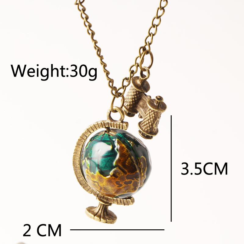 2017 new fashion globe pendant necklaces telescope women jewelry 2017 new fashion globe pendant necklaces telescope women jewelry chain necklace earth gifts chain long choker personality n268 in pendant necklaces from mozeypictures Gallery