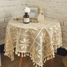 Lace Tablecloth Petal-Like Crochet Handmade Christmas Garden Nordic-Style Vacuum