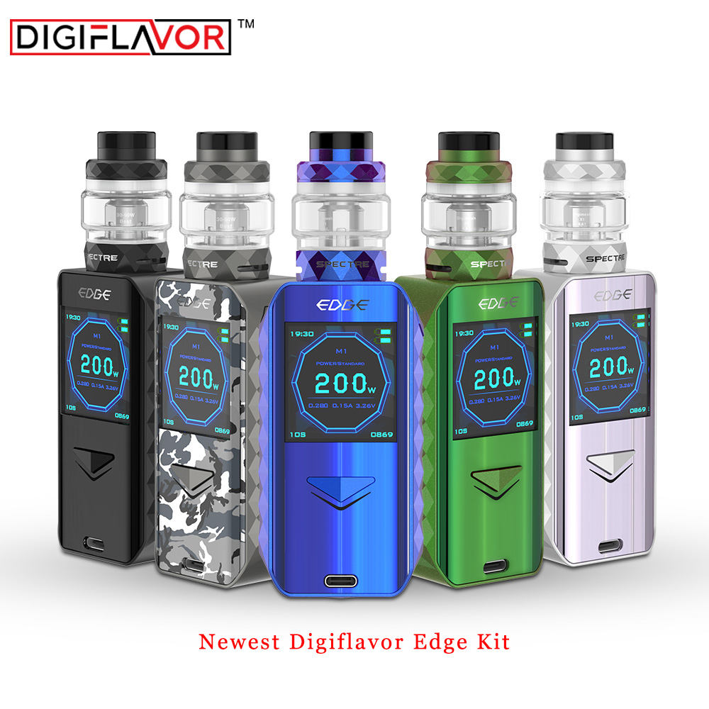 Pre-order Digiflavor Edge Kit with 5.5ml/2ml Atomizer fast wireless charging & advanced AS chipset ecigarette Vape Kit Vs Drag 2