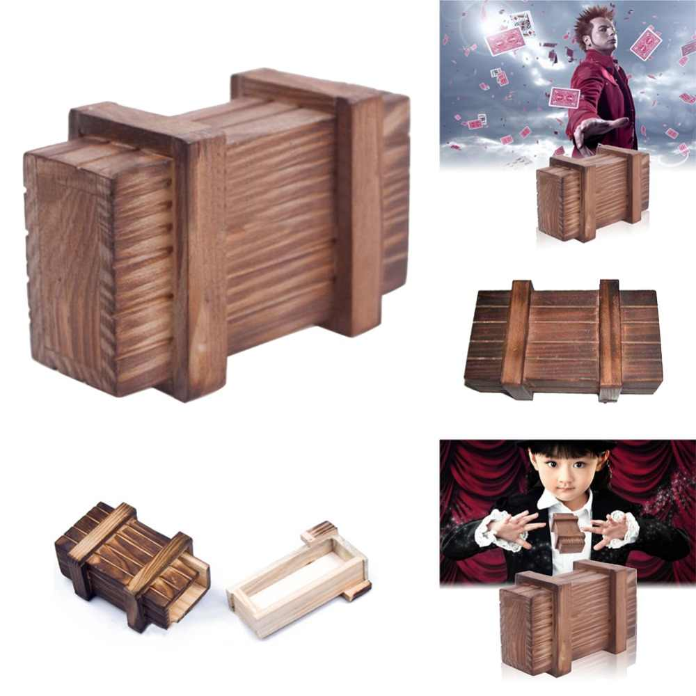 Magic Tricks Wooden Puzzle Wooden Secret Trick Box Intelligence Compartment Best Gift For Teenager Adults