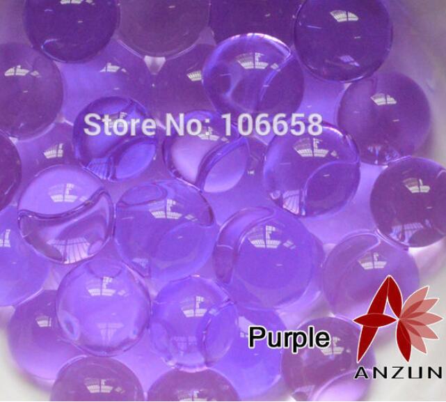 1200 шт почва из гидрогеля прозрачный цветок растения вода питательный Биогель почва семья украшение - Цвет: No 1 Purple