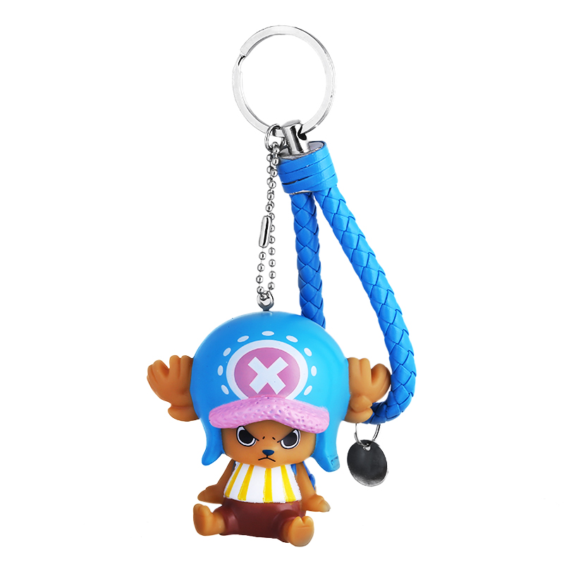 QIYIGE Anime One Piece Doctor Chopper Keychain PU Leather Deer Action Figure Toys Key Ring Chains Pendants Brinquedos Jewelry