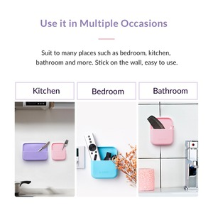 Image 5 - ORICO Silicone Wall mounted Storage Box for Accessory Waterproof Multiple Usages Earphone Remote Control Storage Case