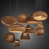 Creative Vintage Rural Cardboard Paper Ball Honeycomb Lamp Bra Loft Warm Light Lantern Pendant Lights For Home Bar Bedroom Decor