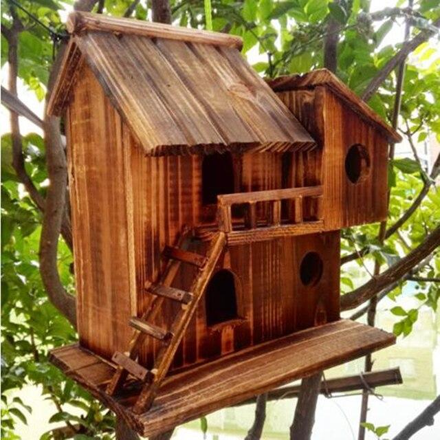 25*25*16 cm Wood preservative outdoor birds nest 4
