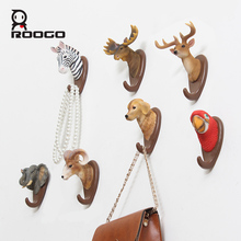 Roogo Home Decoration Accessories Hanger Cartoon Animal Bag Key Holder Wall Crochet Indoor Room Hooks Coat Rack