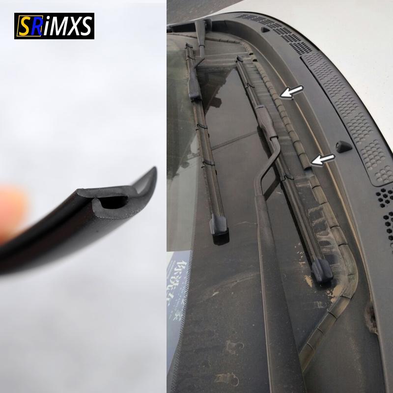 2 Pcs 2M Car Vehicle Windshield Sunroof Dustproof Rubber Sealing Strip Universal