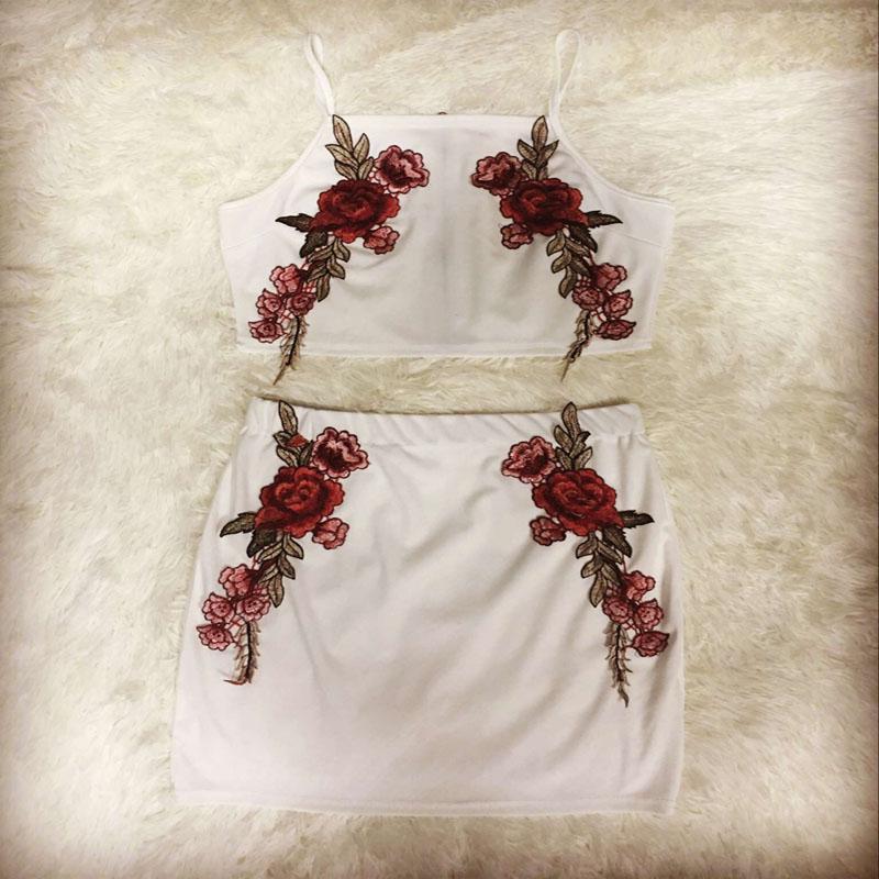 HTB1RcSRQpXXXXcSXpXXq6xXFXXX4 - FREE SHIPPING Sexy Beach Dress Embroidered Flower Sling Two Piece Set JKP376