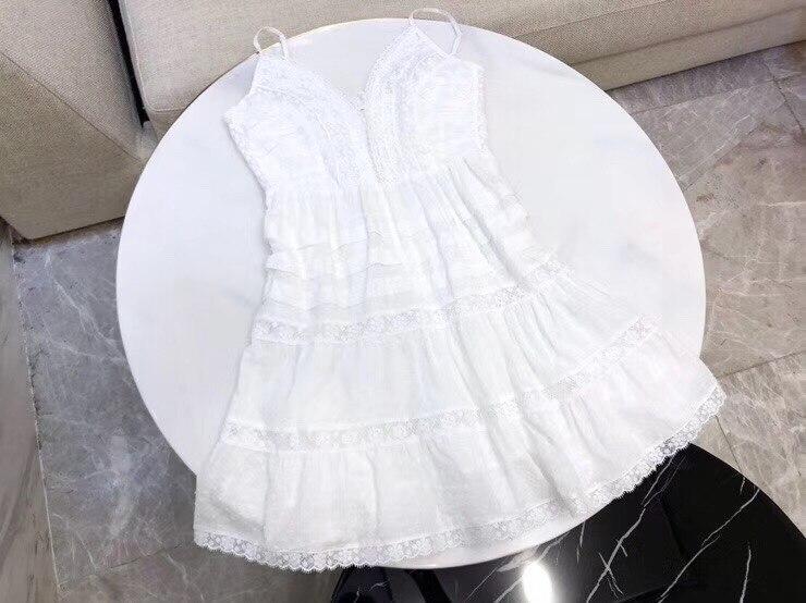 2019 女性レディースコットンスパゲッティストラップドレスビーチドレス  グループ上の レディース衣服 からの ドレス の中 1
