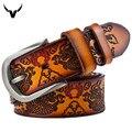Cinto Vintage Estilo Dragón Cinturón, Para Hombre de Lujo Bienes Cinturones De Cuero Para Los Hombres, ocio Caliente de Diseño de Alta calidad Hebilla Correas de los hombres Q5