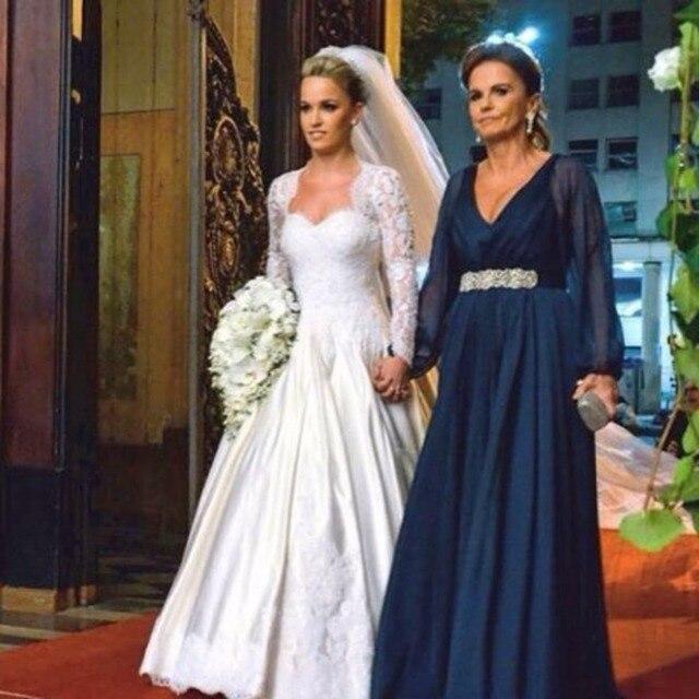 Vestidos largos de manga larga para boda