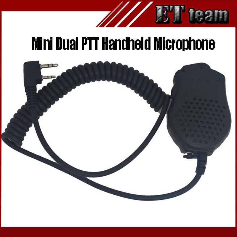 bilder für Mini Dual-ptt Baofeng Handheld Mikrofon Zwei-wege-radio Lautsprecher Mic für BaoFeng Radios UV-82 UV-89