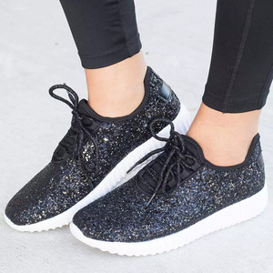 Image 2 - Sapatilhas femininas bling sapatos das senhoras verão brilho tainers mulheres sapatilhas brancas sparkly sapatos casuais cesta femme zapatos mujer