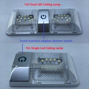 Image 1 - LED Roof Spotlight 12V Rectangular Ceiling Lamp Touch Function Dimmer Switch Interior Down Lighting for Marine/Yacht RV Caravan