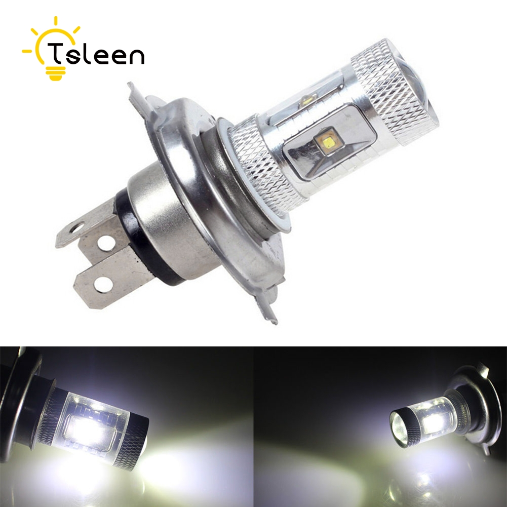 TSLEEN 2pcs H4 Super brighter LED headlight Daytime Running Light Car Fog Lamps White 6000K Light 6 CREE LED 12V High/Low Beam ironwalls 2pcs set car headlight cree csp chips 72w hi low beam led driving light auto front fog light for audi toyota honda