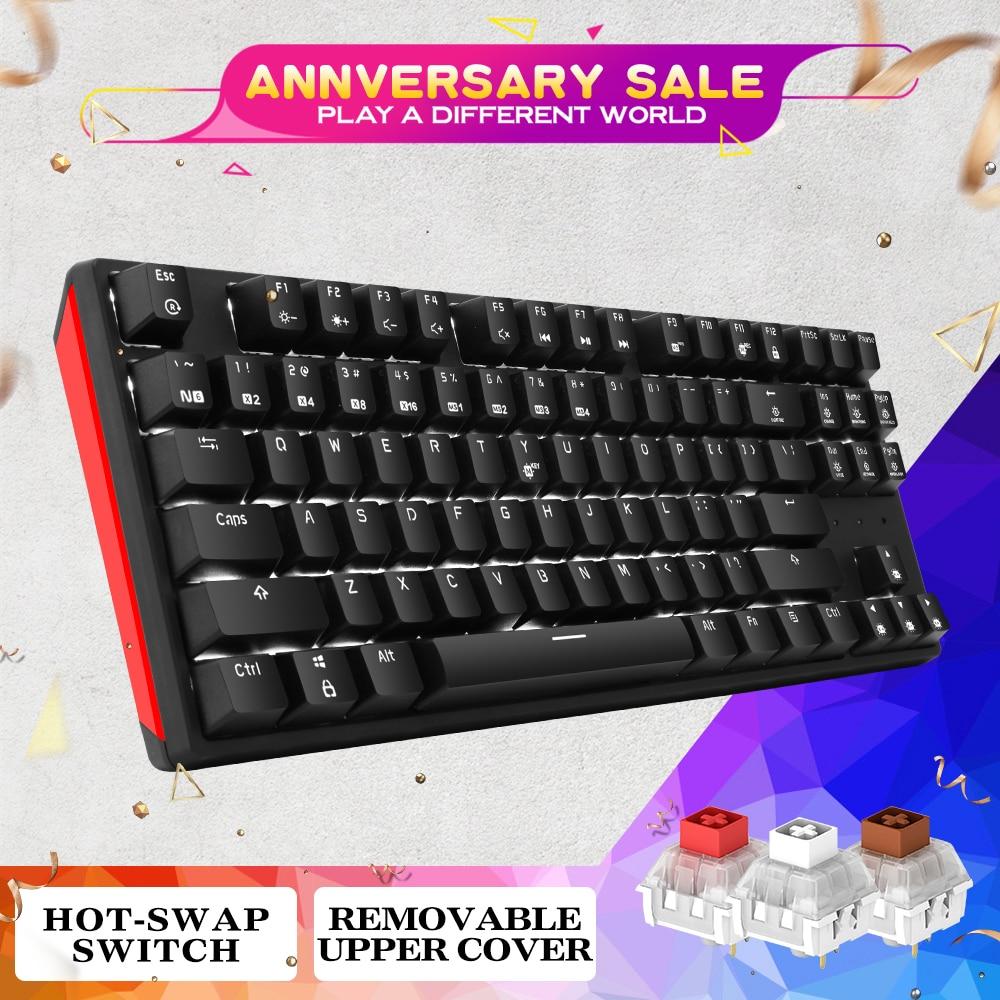 HEXGEARS 87 Clé Remplaçables À Chaud clavier mécanique Étanche Kailh Boîte Commutateur clavier de jeu clavier de gamer avec Rétro-Éclairage