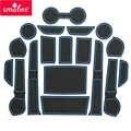 Smabee שער חריץ pad עבור טויוטה Hilux SR5 4x4 2015-2018 Hilux REVO היי-פנים דלת כרית/כוס החלקה מחצלות אדום כחול לבן