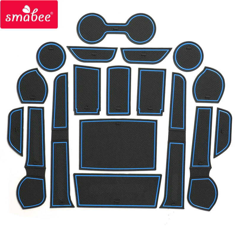 smabee Gate slot pad For Toyota Hilux SR5 4x4 Hilux REVO Hi- Interior Door Pad/Cup Non-slip mats red blue white 2016 toyota hilux revo window accessories abs chrome window gate trim for toyota hilux revo 2015 2016 chrome decoretive trim