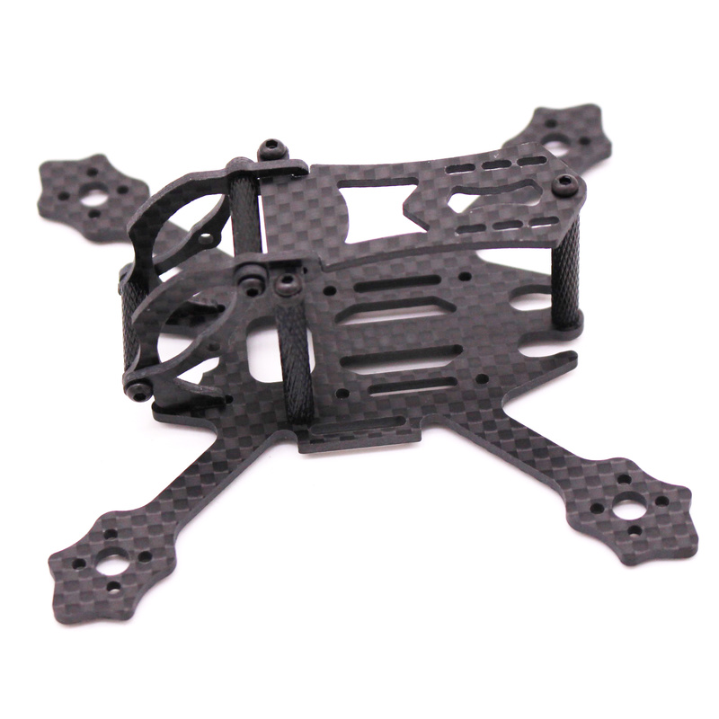 Image 2 - FSD Racing X100 100mm 2 inch Whoop Super light 3K Carbon fiber FPV frame RC drone for Gemfan 2036 prop F4 FC 11XX Motors EOS 2-in Parts & Accessories from Toys & Hobbies