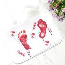 Креативный дверной кровяный ковер, водопоглощающий нескользящий коврик для ванной комнаты, ужасные пугающие ковры, коврик для двери дома