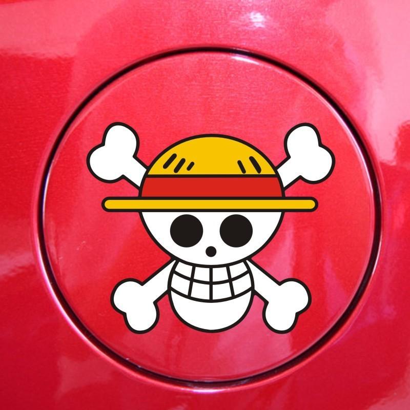 Personality ONE PIECE Stickers Decal straw hat Luffy skull tank affixed Car Sticker For bmw benz audi toyota mazda vw skoda ford