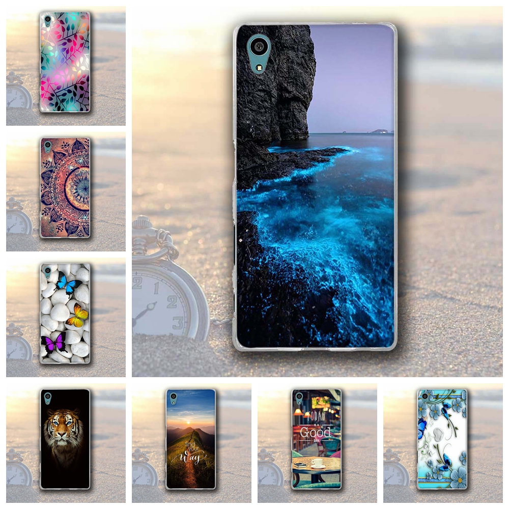 Phone Case for <font><b>Sony</b></font> Xperia Z5 E6003 <font><b>E6633</b></font> E6653 E6683 Cover Soft Silicone 3D Printed Protective Case for <font><b>Sony</b></font> xperia Z5 Z 5 Capa image