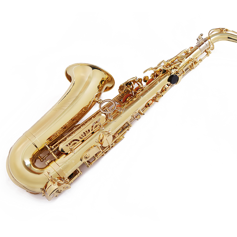 Professional performance Eb Fb saxophone adult children alto saxophone paint gold falling tune E F Sax for band classic reed professional alto sax saxophone black nickel body and gold keys abalone shell high f