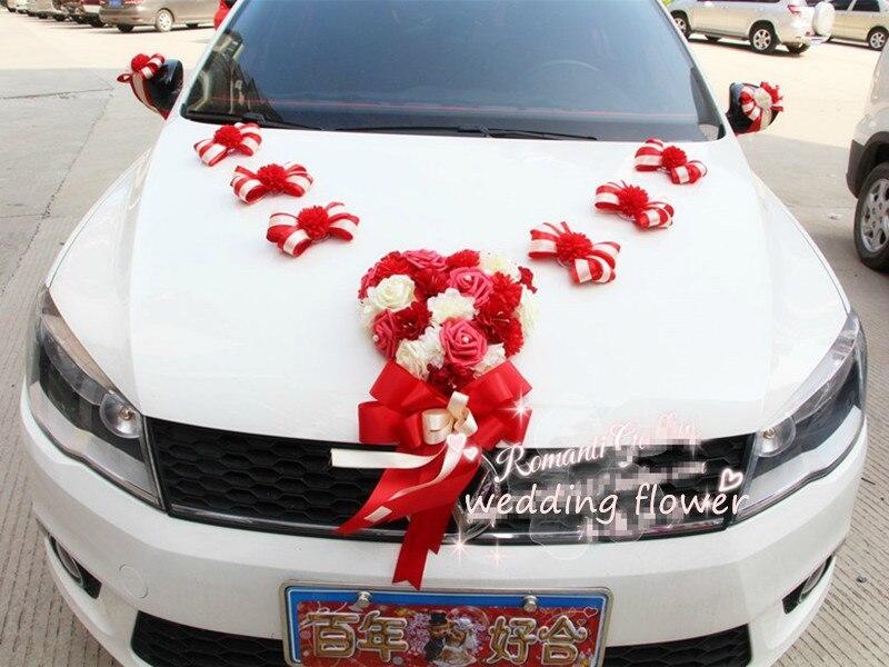 Fleur de voiture d coration achetez des lots petit prix - Decoration de voiture de mariage a petit prix ...