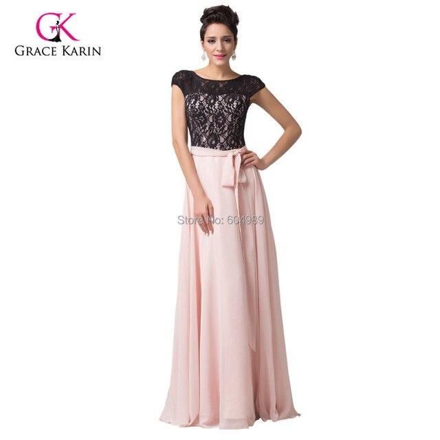 Pink Black Lace Wedding Dresses