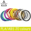 20 рулона/серия 3D Накаливания ABS/PLA 1.75 мм 3D Принтер Накаливания Материалы (20 Цвета 10 М/цвет, всего 200 М) Для 3D Печать Ручка