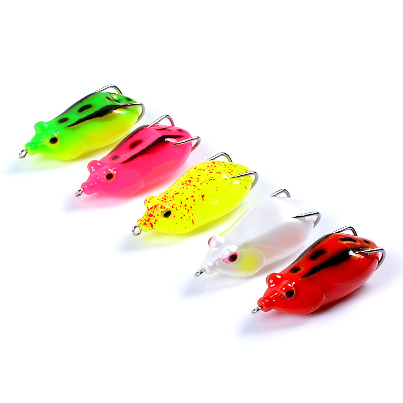 minnow The bionic bait 6 5cm 13 2g Thunder frog Black fish Artificial bait frog lure soft plastic lures Triple hook softbait in Fishing Lures from Sports Entertainment