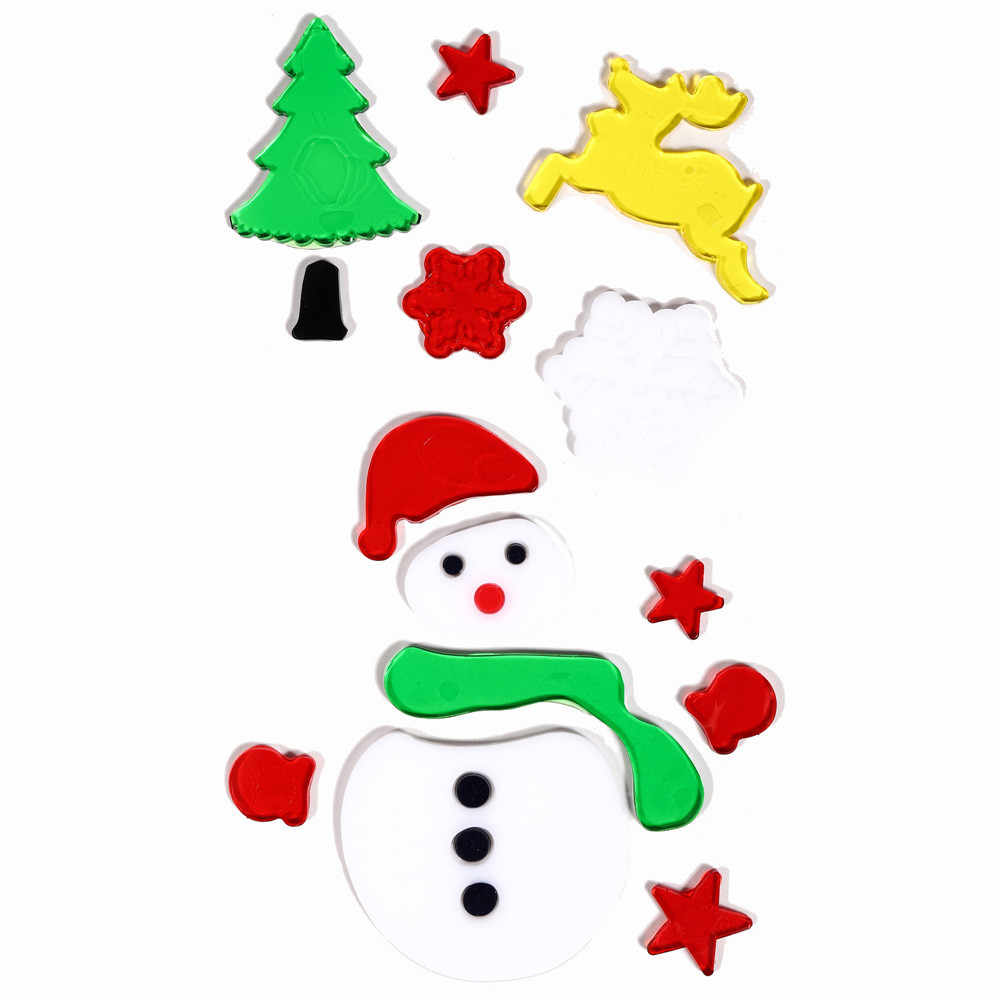 Detail feedback questions about large christmas snowman window gel jelly sticker xmas party dinner party gift supply candles holders home decor8 on