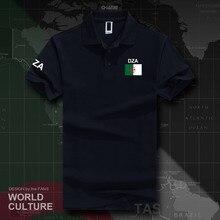 República da argélia islão argelino dza polo camisas dos homens de manga curta branco marcas impressas para país 2017 algodão nação dzayer