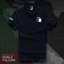 Republika algierii algierski Islam DZA koszulki polo męskie z krótkim rękawem białe marki drukowane dla kraju 2017 bawełna naród Dzayer