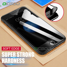OICGOO 3D Curved Soft Edge Tempered Glass For iPhone 8 8 Plus 7 7 Plus 3D Full Cover Screen Protector Film For iphone 8 Glass