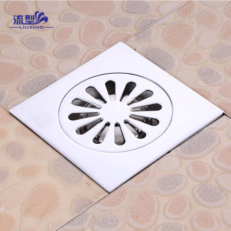 ITAS1108304 stainFloor drain full copper stink proof anti rust core washing machine floor sewer deodorizing smell remover home
