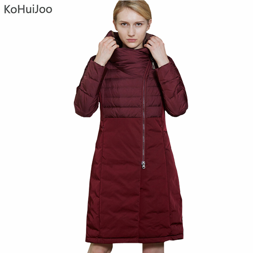 M-3XL Plus Size Women Winter Long Down Parkas Hooded Slim Zipper Warm Fashion Female Duck Down Jacket Russia Style Snow Coat 2017 winter women slim duck down jackets female long hooded coat parkas solid thicken warm casual fashion padded coats plus size