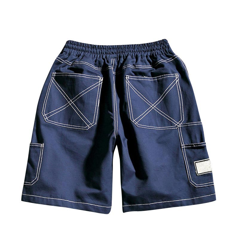 HEE GRAND Men Casual Cargo Shorts 2018 New Arrival Cotton Breathable Material Drawstring Solid Color Shorts Size M-5XL MKD1440