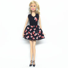 NK One Set Doll Clothes Dress Fashion Skirt Party Gown For Barbie Doll Girl Best Gift 032A(China)
