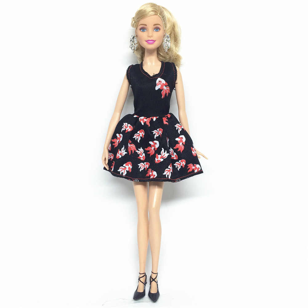 NK One Set Doll Clothes Dress Fashion Skirt Party Gown For Barbie Doll Girl Best Gift 032A