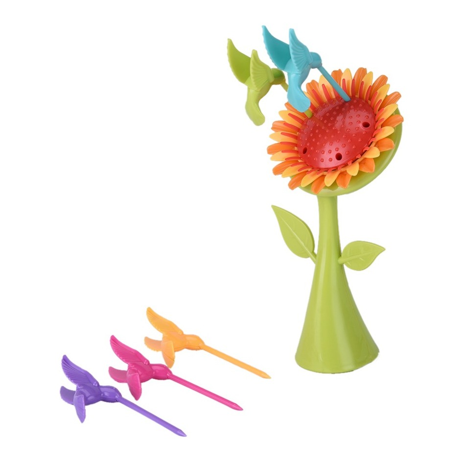 New! Creative 1 Stand+5 Forks Birds And Sunflower Forks ...