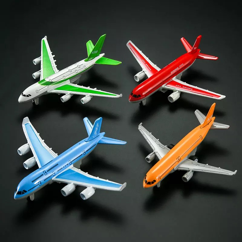 136136 The alloy plane A320A380 Boeing small aircraft model boy toy passenger plane return force 25cm
