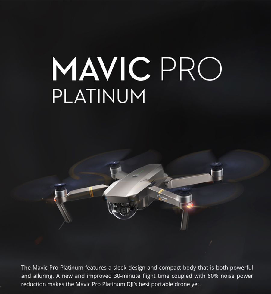 DJI Mavic Pro Platinum Fly More Combo & dji mavic pro quadcopter 12 mil. 4K HD Video Recording drone 7 KM Remote Control 30 mins_01